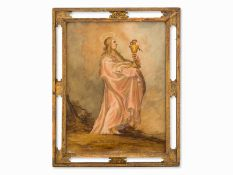 """Der Evangelist Johannes"" Hinterglasmalerei, Italien, 18. Jh."