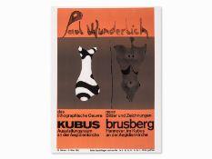 "Paul Wunderlich (*1927-2010) ""Plakat Brusberg"" 1965"