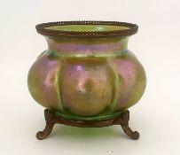 iridescent Vase | Brass Stand