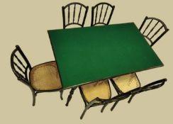 J & J Kohn | Card Table | 6 Chairs