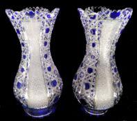 2 Crystal Cut Vases