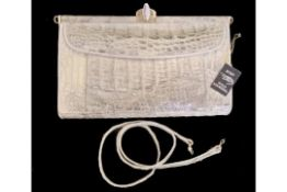 Handbag | White Crocodile | Vintage