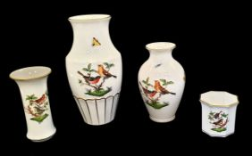 Herend | 4 Vases | Rothschild Bird