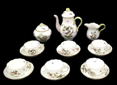 Herend | Rothschild Birds | 17 Pieces Coffee Set