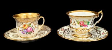 2 Bohemian Cups & Saucers | 4 Items
