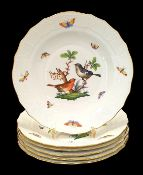 Herend | 6x Side - Plates | Ø 20.5 cm | Rothschild