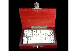 Ivory Domino | Wooden Case