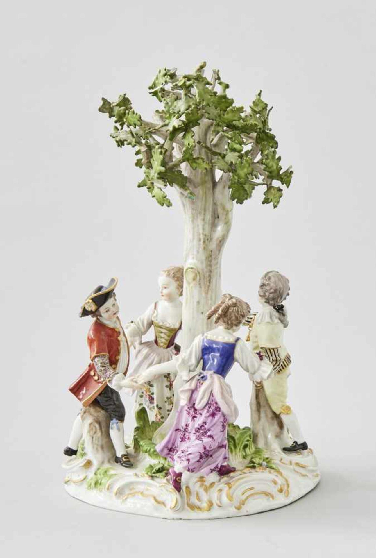 Los 30 - Meissenfigur 'Tanzende Gärtnerkinder'Meissen, unterglasurblaue Schwertermarke, Knaufzeit,