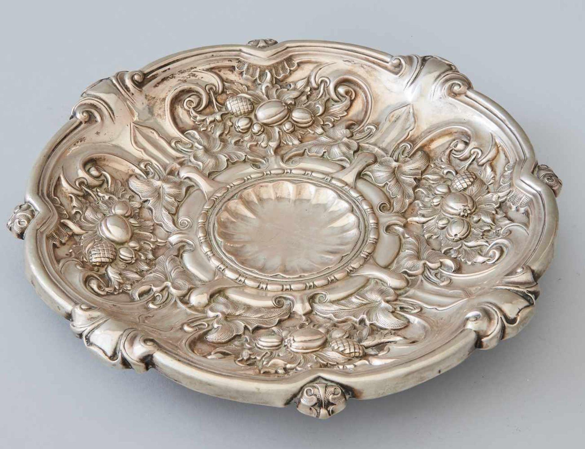 Los 65 - Silber Obstschale 19. Jhdt.Silber geprüft, gestempelt (unentschlüsselt). Gewicht 220 Gramm,