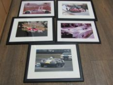 5 Framed Motorsport Photographs