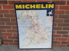 Michelin Tyres Tin Map Sign