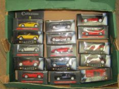 A collection of Boxed Model Ferraris