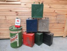 A Quantity of Petrol and Oil Cans