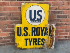US Rubber U.S. Royal Tyres tin sign