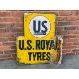 US Rubber U.S. Royal Tyres tin sign