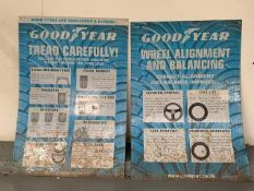 Two Good Year Vintage Metal Tyre Signs