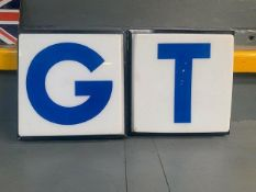 2 illuminated forecourt display letters