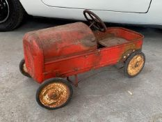 Vintage childrens Triang Pedal car