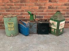 Mixed lot of oil and fuel cans