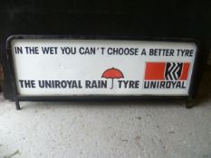 Uniroyal Rain Tyre double sided metal sign
