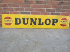 Vintage Dunlop Stock aluminium sign