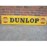 Vintage Dunlop Stock aluminium sign