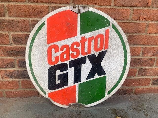 Castrol GTX circular spinning sign