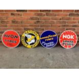 4 modern reproduction circular advertising signs