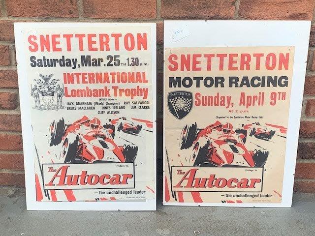 Two Original Snetterton Posters