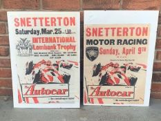 Two Original Snetterton Posters