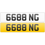 6688 NG registration number on retention certificate