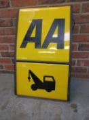 AA Breakdown Service sign