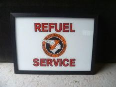 Framed National Benzole Mixture Service picture