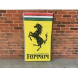 Large Ferrari wall sign