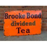 Brooke Bond Dividend Tea Vintage Enamel Sign