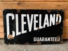 Vintage Cleveland double sided enamel sign