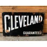 Vintage Cleveland double sided enamel sign