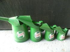 Set of Four Graduated Castrol Oil Jugs