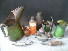 Quantity Of Oil Cans, Grease Guns and BP Energol Jugs