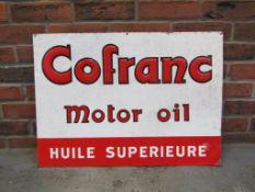 Original Cofranc Motor Oil Pressed Tin Sign
