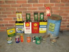Good Sized Collection of Oil Cans and Jugs
