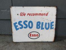 Double Sided Vintage Esso Blue Flange Sign