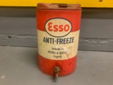 Esso Anti-Freeze 5 Gallon Can with Tap