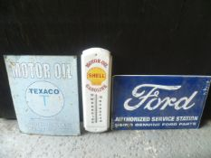 Texaco, Shell and Ford Advertising Signs