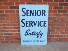Vintage Senior Service Advertising Sign