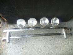 Classic Mini Front and Rear Bumpers with Spot Lights