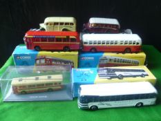 Six Boxed Collectable Buses and Coaches