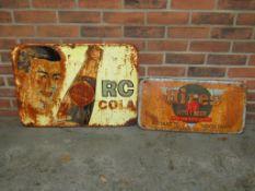 Hires Root Beer and Royal Crown Cola Vintage Signs