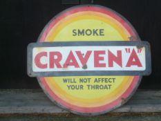Large Craven A Vintage Enamel Sign