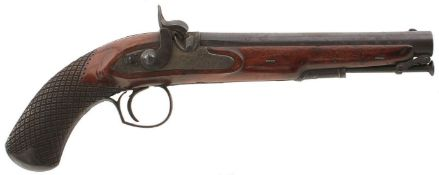 A PAIR OF .650 CALIBRE PERCUSSION OFFICER'S PISTOLS BY PROSSER, 9inch sighted barrels with partial